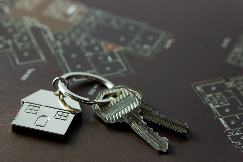 House keys for real estate concept